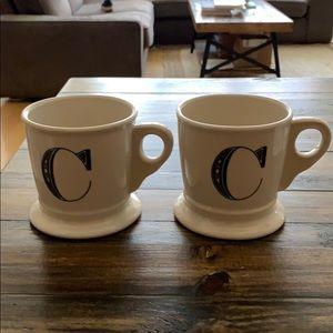 Matching C mugs from Anthropologie